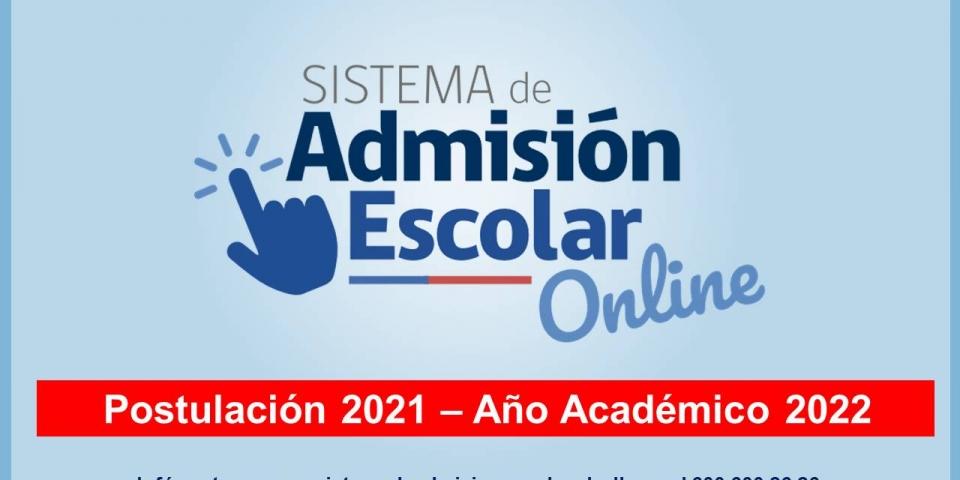 Sistema de Admisión Escolar online 2022